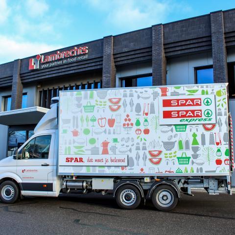 SPAR supermarkt bestelwagen