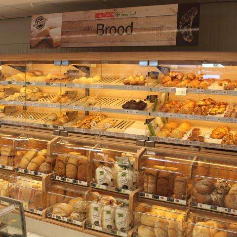 Lambrechts Spar supermarkt beginnen – brood en gebak