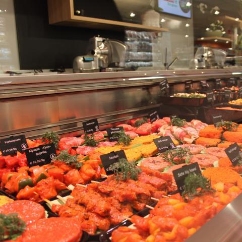 Lambrechts Spar supermarkt beginnen – verse vleeswaren